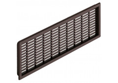 Вент.решетка 227х68мм, пластик коричневый