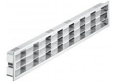 Вент.решетка 458х65мм, пластик хром