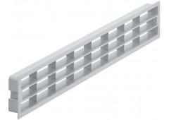 Вент.решетка 458х65мм, пластик серый