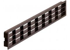 Вент.решетка 400х83мм, пластик коричневый