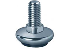 Опора-винт D30 мм, М10х20 мм, никелированная