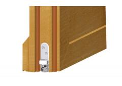 Автоматический дверной выдвижной уплотнитель Athmer для защиты от дыма и огня, алюм./силикон серый, 630мм