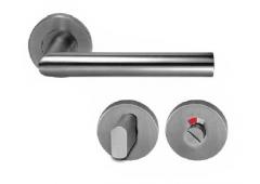 Комплект дверных ручек Hafele форма G с завертками WC, штифт 8 мм, алюминий матовый