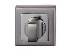 Комплект розеток Hafele под завертку WC, квадратные, покрытие никель матовый