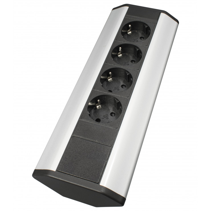 Блок розеток угловой TRINGLE, 4 розетки EURO, 250В