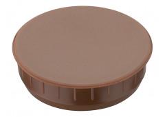 Заглушка пластик коричневый  35x10,0мм