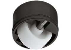 Ролик мебельный, для мягкого пола, без тормоза, нагрузка 50 кг, черный/белый