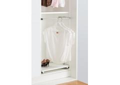 Выдвижная вешалка для одежды, 600 мм ширина шкафа (алюминий, цвет серебро)