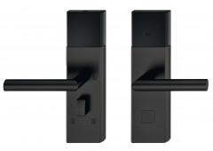 Комплект терминала Hafele Dialock DT700, нержавеющая сталь, черная, матовая,нажимная дверная ручка L-образной формы .