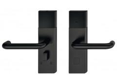 Комплект терминала Hafele Dialock DT700, нержавеющая сталь, черная, матовая,нажимная дверная ручка U-образной формы .