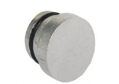 Заглушка для ручки-кнопки, 14,2мм, никель матовый