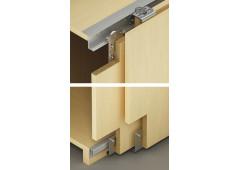 Комплект фурнитуры Slido Classic 35 VF S на 2 двери, нижний профиль в торец нижней панели