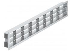 Вент.решетка 458х65мм, пластик серебро