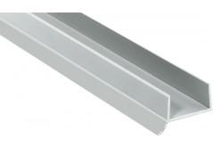 Цокольный профиль с уплотн. манжетой L=2,5м. Св. серый. д/плиты 16 мм.