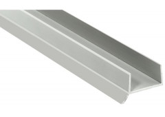 Цокольный профиль с уплотн. манжетой L=2,5м. Белый. д/плиты 16 мм.