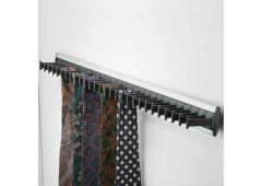 Держатель галстуков, черный 432x52x47 мм