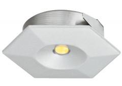Светильник LED модель 4006 350mA/1W теп. бел серебрист. 38x33mm