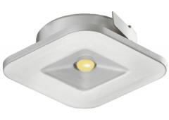 Светильник LED модель 4007 350mA/1W теп. бел серебрист. 34х34mm