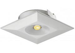 Светильник LED модель 4003 350mA/1W теп. бел серебрист. 34х34mm