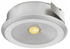 Светильник LED модель 4004 350mA/1W теп. бел серебрист. D=30mm