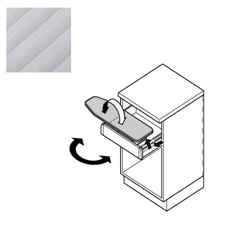 Гладильная доска в выдвижной ящик Hafele Ironfix SH, серые полоски