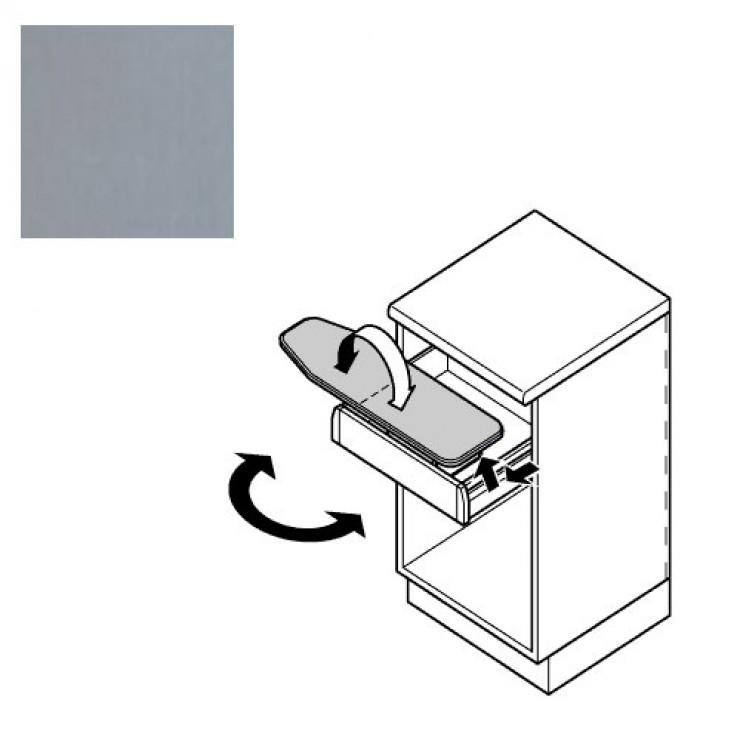 Гладильная доска в выдвижной ящик, складная, поворотная Hafele Ironfix SH, цвет алюминий