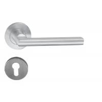 Комплект дверных ручек Hafele модель HL10 с розетками под профильный цилиндр, штифт 8 мм, нержавеющая сталь