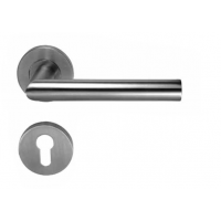 Комплект дверных ручек Hafele Startec форма G с розетками под профильный цилиндр для входных дверей, штифт 8 мм, нержавеющая сталь