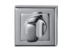 Комплект розеток Hafele под завертку WC, квадратные, покрытие хром полированный