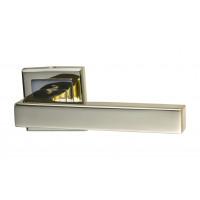Комплект ручек Hafele Easy 3 для межкомнатных дверей, розетки квадратные, покрытие латунь полированная