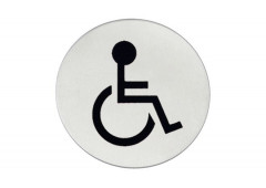 Символ дверной Hafele Startec «Люди с ограниченными возможностями», 75 мм