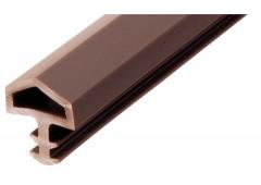 Уплотнительный профиль Hafele Startec для дверей, PVC, темно-коричневый, 25м