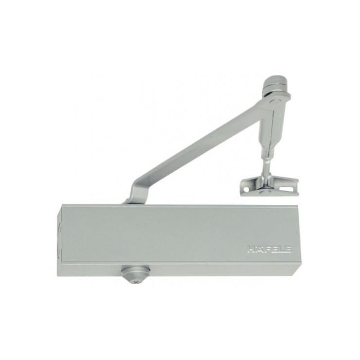 Верхний дверной доводчик – Hafele StarTec  DCL 51   с рычажной тягой без фиксатора  ,  Лак серебристый