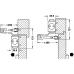 Верхний дверной доводчик – Hafele StarTec  DCL 51   с рычажной тягой с фиксатором , нерж.сталь  матовая
