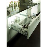 Выдвижная корзина Hafele Crystal под мойку, в базу 900 мм, металлический пруток, направляющие в комплекте